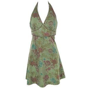 Dresses & Skirts - GUESS | Halter Floral Denim Tie Dress Small S